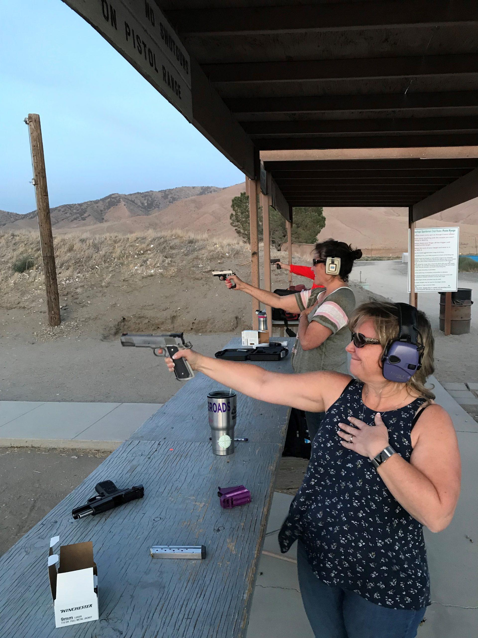 Ladies Shooting Handguns